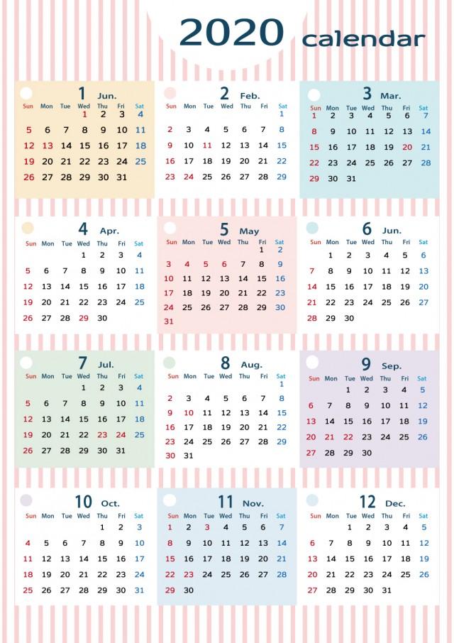 2020 無料 カレンダー