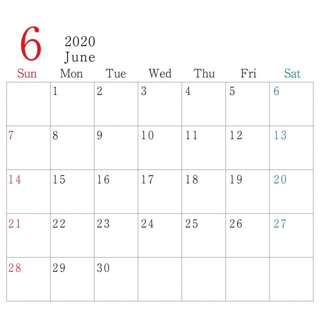 カレンダー 2020 無料 シンプル