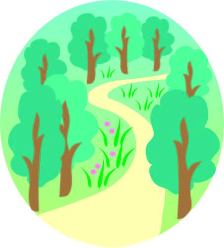 森の小道 無料イラスト素材素材ラボ