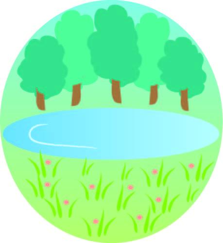 森の泉 無料イラスト素材素材ラボ