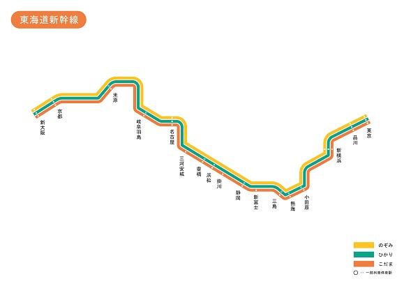 東海道新幹線 路線図 無料イラスト素材素材ラボ