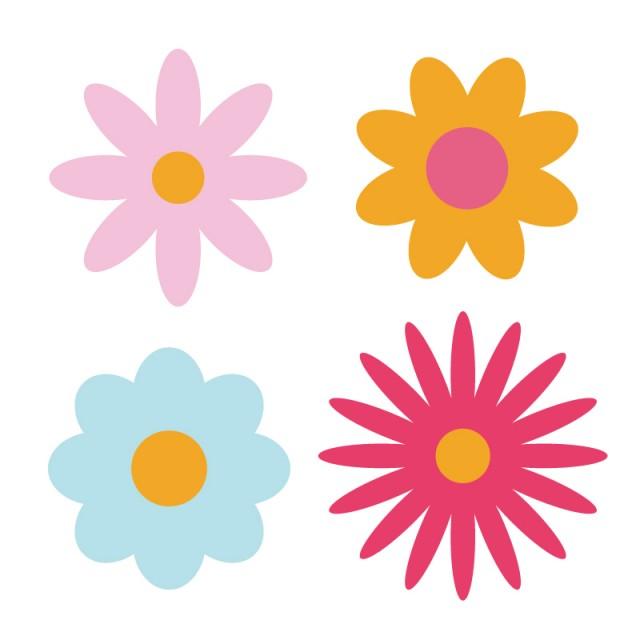 可愛いお花のバリエーション 無料イラスト素材素材ラボ