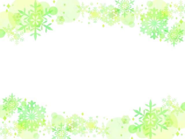 雪の結晶のフレー…