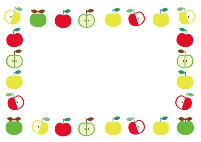 かわいいリンゴのフレーム 無料イラスト素材素材ラボ