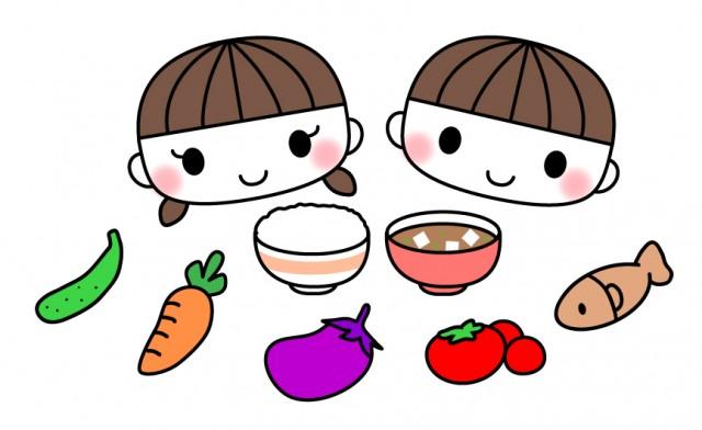 こどもとごはん味噌汁など食べ物のイラスト素材 無料イラスト素材