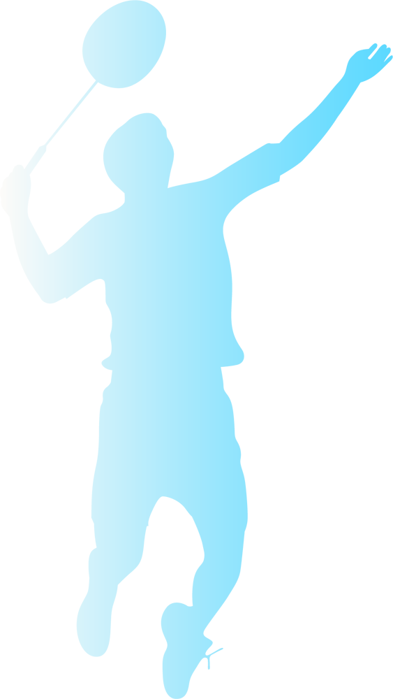 バドミントンをする男性シルエット Csai Png 無料イラスト素材 素材ラボ