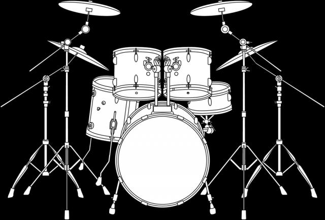 ドラムの線画アイ…
