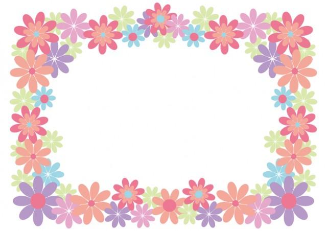 かわいいお花のフレーム 無料イラスト素材素材ラボ