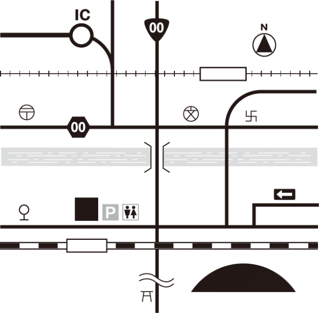 バス停 地図 記号