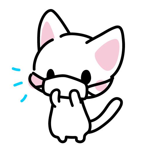 マスクをする猫ちゃんのイラスト | 無料イラスト素材|素材ラボ