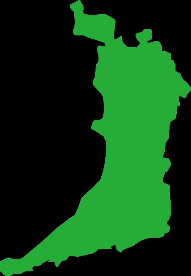 無料イラスト素材:大阪府の地図