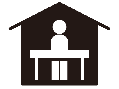 1人で家にいるイメージアイコン 無料イラスト素材 素材ラボ