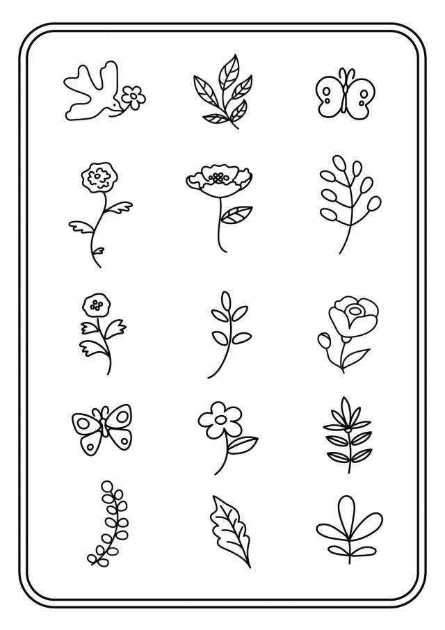 手書きの花 イラストセット 無料イラスト素材 素材ラボ
