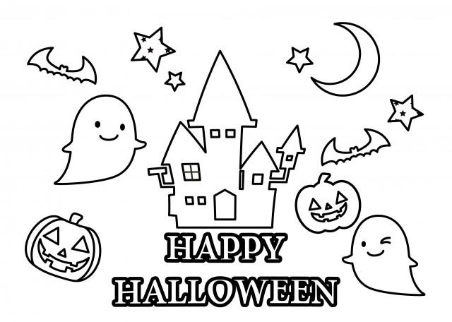 季節の塗り絵 10月 ハロウィン 無料イラスト素材 素材ラボ