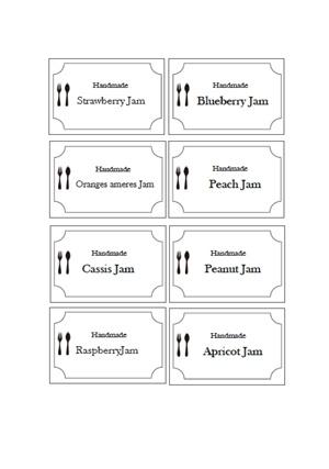 ジャムラベル 英字 テンプレート 無料イラスト素材 素材ラボ