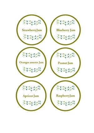 ジャムラベル 英字 色付き テンプレート 無料イラスト素材 素材ラボ