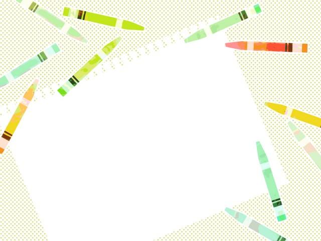 クレヨンと画用紙の背景 無料イラスト素材 素材ラボ