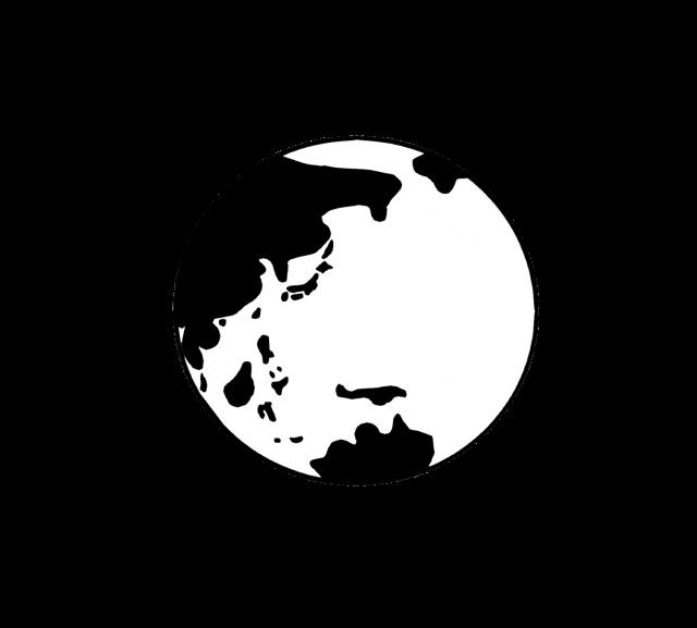 地球のシルエット 無料イラスト素材 素材ラボ
