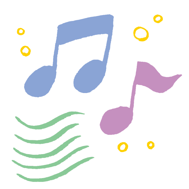 パステルカラーの音符 無料イラスト素材素材ラボ