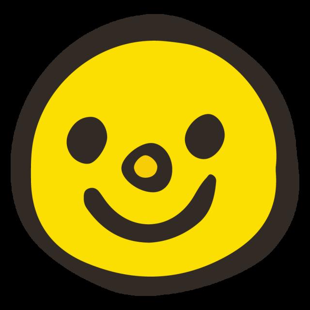 かわいいアイコンフェイス笑顔スマイルマーク 無料イラスト