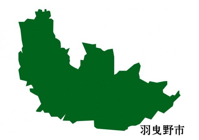 大阪府羽曳野市(はびきのし)の地図(緑塗り) | 無料 ...