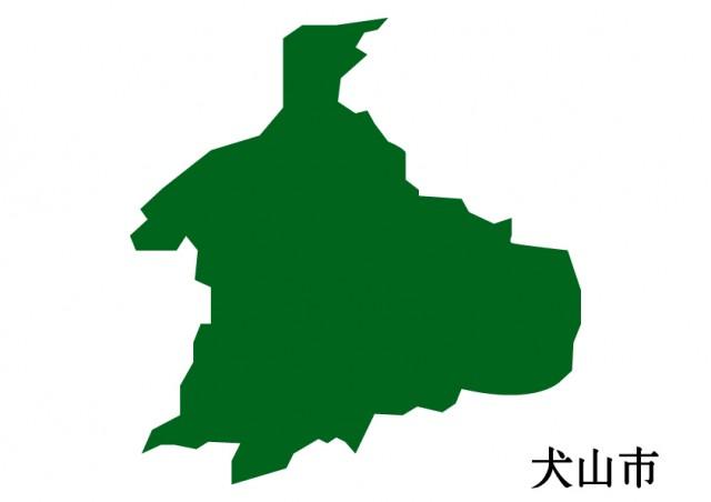 愛知県犬山市(いぬやまし)の地図(緑塗り)   無料イラスト ...