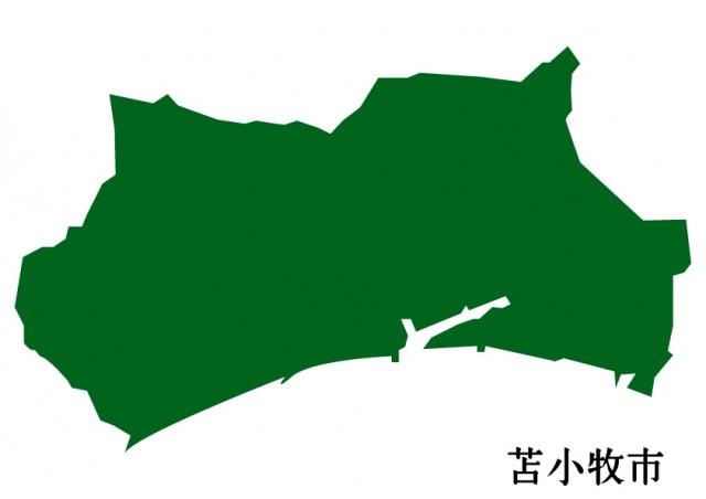 北海道苫小牧市(とまこまいし)の地図(緑塗り)   無料 ...
