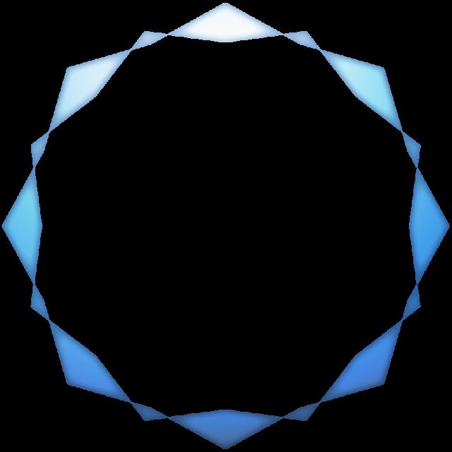 かわいい丸フレーム角青 無料イラスト素材素材ラボ