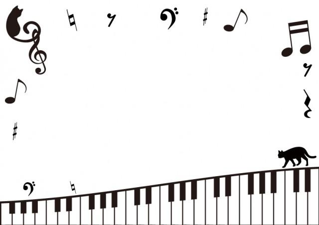 猫と音楽のフレー…