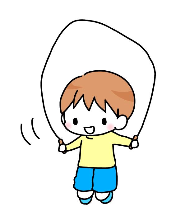 なわとびをする男の子のイラスト 無料イラスト素材素材ラボ