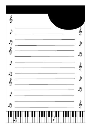 鍵盤便箋テンプレート 無料イラスト素材素材ラボ