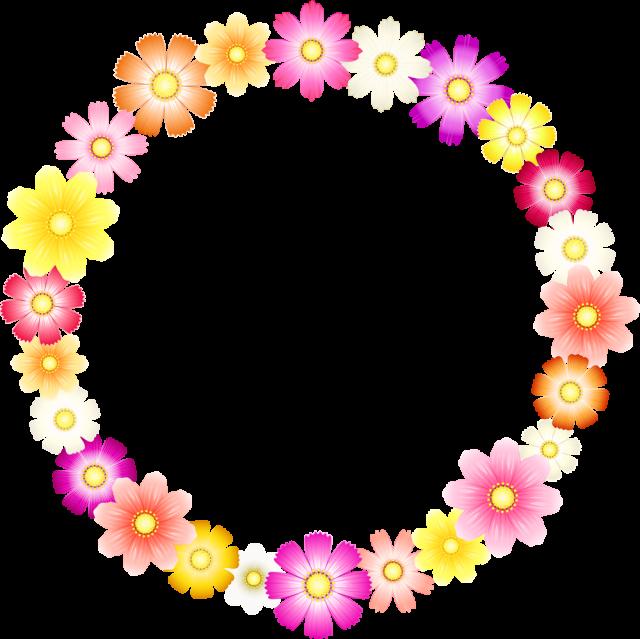 コスモスの花のリースcs4aipng 無料イラスト素材素材ラボ