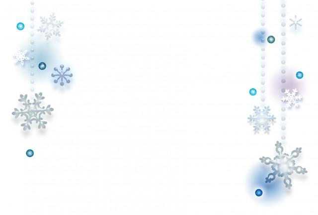 雪の降るフレーム 無料イラスト素材素材ラボ