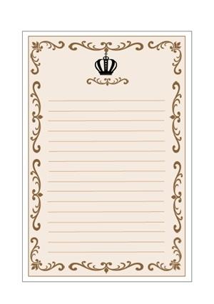 アンティーク王冠2便箋テンプレート 無料イラスト素材素材ラボ