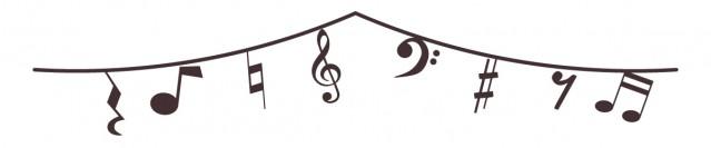 音楽のガーランド…