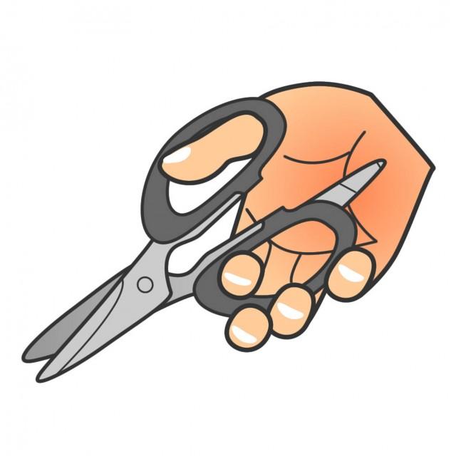 手の仕事ハサミで切る 無料イラスト素材素材ラボ