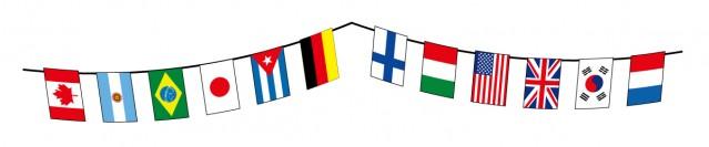 万国旗のライン素…