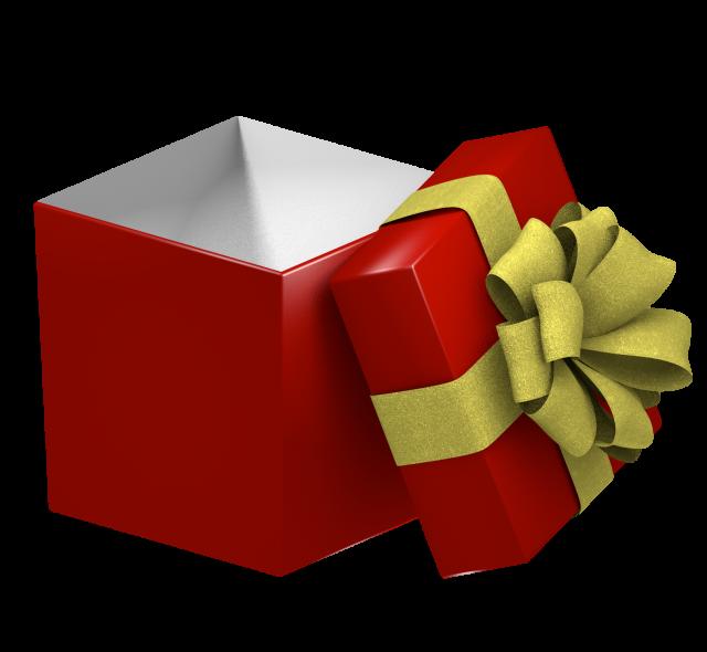 開いたプレゼントの箱5 無料イラスト素材素材ラボ