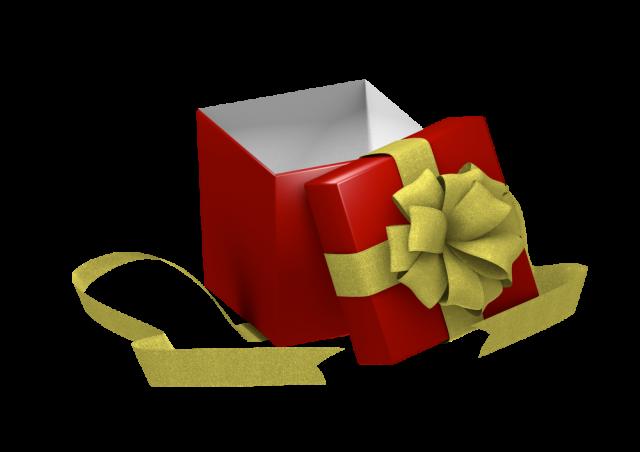 開いたプレゼントの箱7