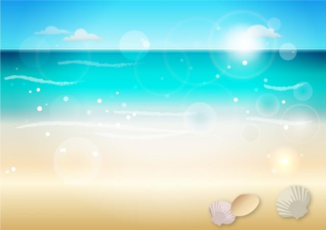 青空と海の背景 | 無料イラスト素材|素材ラボ