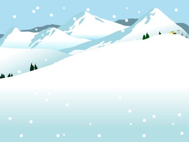 雪山とスキー場 無料イラスト素材素材ラボ