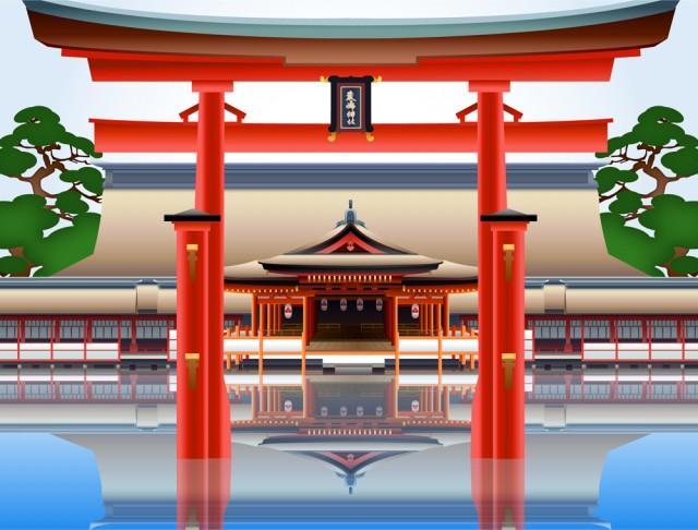 宮古島の厳島神社背景csaijpg 無料イラスト素材素材ラボ